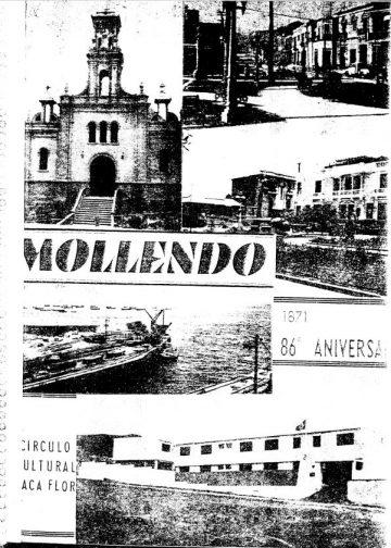 Mollendo 86° Aniversario 1871 Circulo Cultural Baca Flor