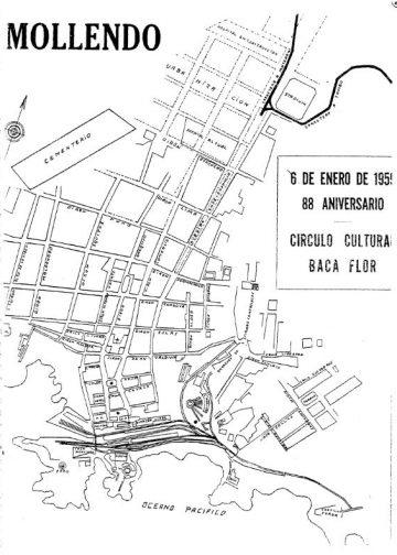 Mollendo 6 de Enero del 1959 - 88° aniversario Circulo Cultural Carlos Baca Flor