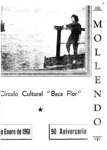 Mollendo 6 de Enero del 1961 - 90° aniversario Circulo Cultural Carlos Baca Flor