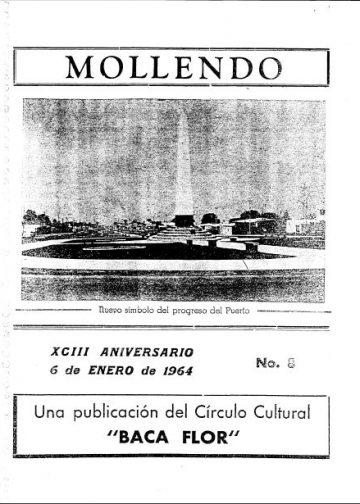 Mollendo XCIII Aniversario 6 de Enero de 1964 N°8