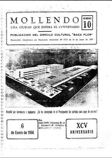 Mollendo Una Ciudad que Espera el Centenario XCV Aniversario 6 de Enero 1966 N°10