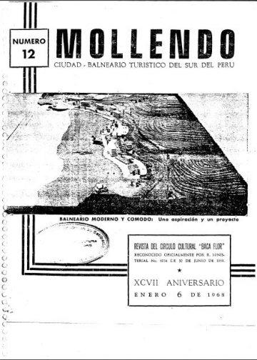Mollendo Ciudad Balneario Turistico del Sur del Perú XCVII Aniversario 6 de Enero 1968 N°12