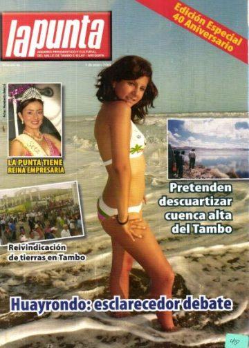 Anuario Periodístico y cultural de Punta de Bombon y el valle de Tambo Islay - Arequipa 40
