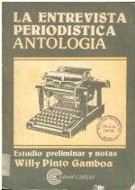 La entrevista Periodística Antología