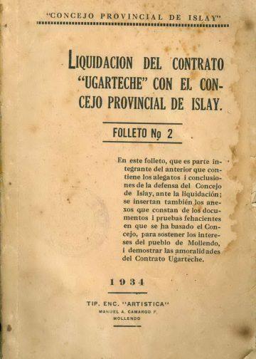 """La liquidación del contrato """"Ugarteche"""" con el Concejo Provincial de Islay - Folleto 2"""