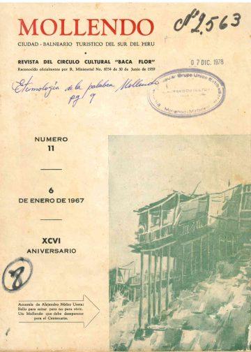 Mollendo Ciudad Balneario Turistico del sur del Perú 1967 N°11