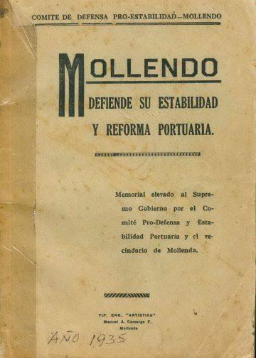 Mollendo defiende su estabilidad y reforma portuaria 1936
