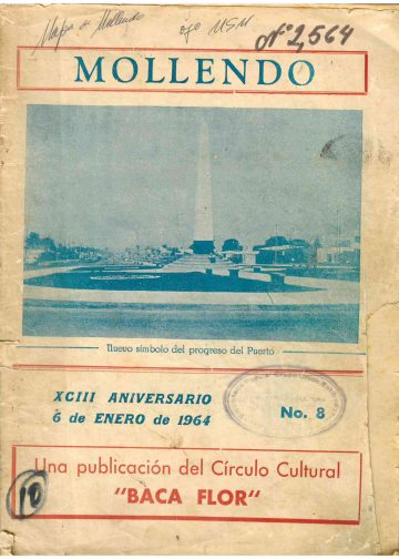 Mollendo nuestro simbolo del progreso del puerto 1964 N°8
