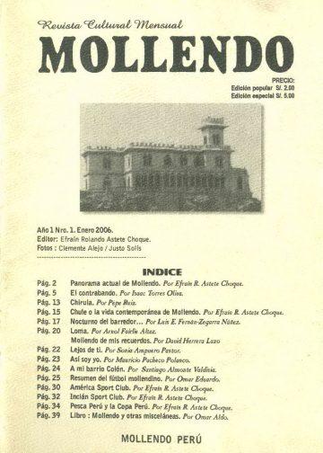 Revista Cultural Mensual Mollendo N° 1 2006